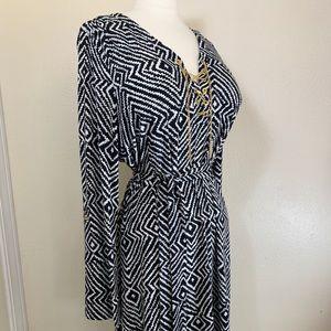 Michael Kors Geometric Print Midi Dress